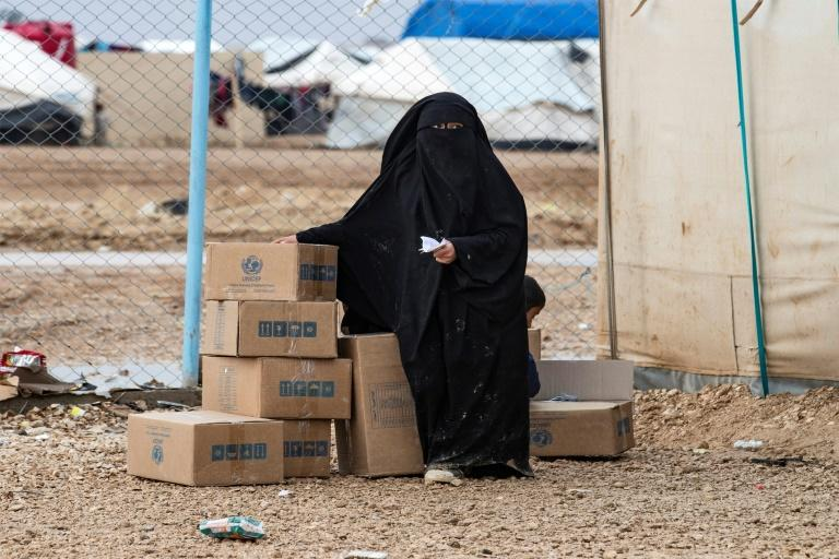 The 68,000 residents of Al-Hol are reliant on humanitarian assistance, especially during the winter, but deliveries could be sharply reduced after the UN Security Council last week voted to restrict cross-border aid (AFP Photo/Delil SOULEIMAN)