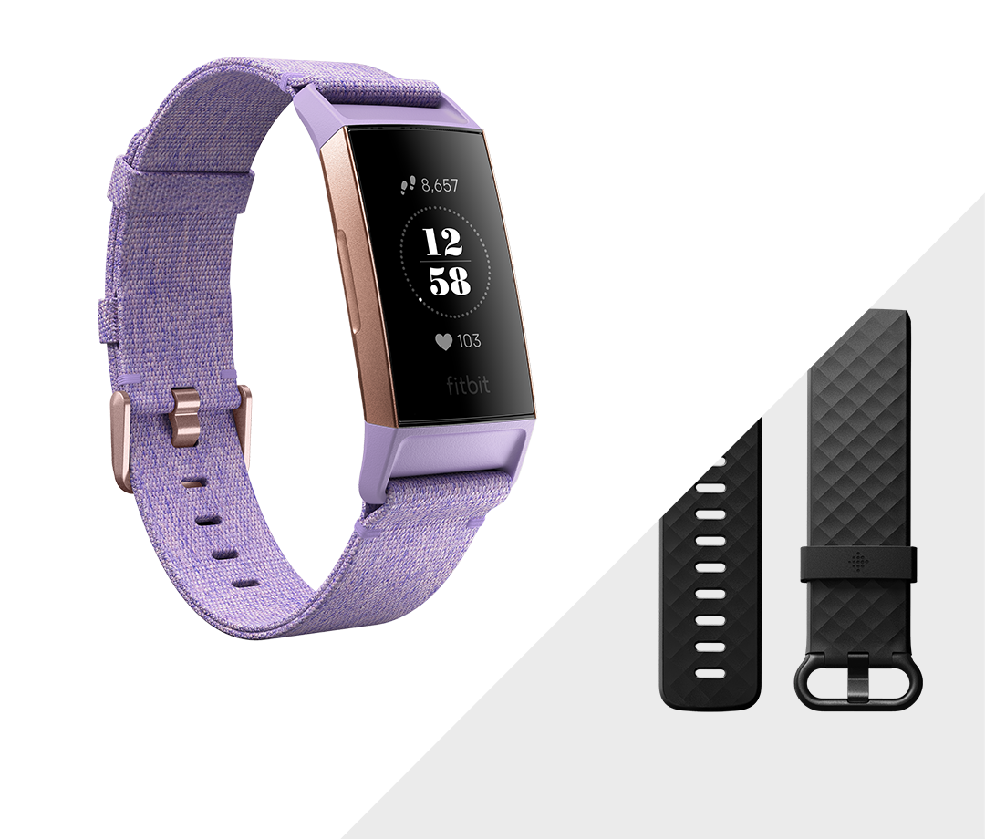 """<p><strong>fitbit</strong></p><p>fitbit.com</p><p><strong>$139.95</strong></p><p><a href=""""https://go.redirectingat.com?id=74968X1596630&url=https%3A%2F%2Fwww.fitbit.com%2Fshop%2Fcharge3%3Fcolor%3Dlavender&sref=http%3A%2F%2Fwww.runnersworld.com%2Fgear%2Fg28354973%2Ffitbit-summer-sale-2019%2F"""" target=""""_blank"""">Shop Now</a></p><p>This streamlined watch features a special-edition lavender woven band and rose gold details. It looks good on the outside and the inside packs an advanced fitness tracker.</p>"""