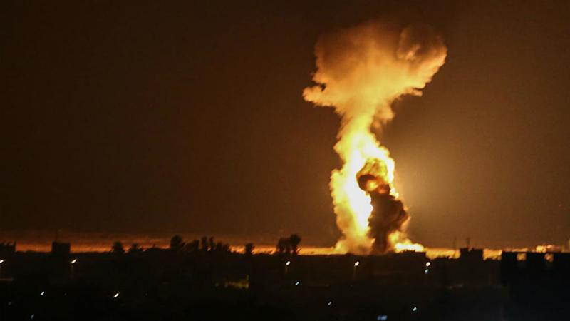 Israel targets Hamas in Gaza in response to fire-bomb balloons
