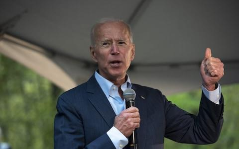 <span>Mr Biden is the Democrat front-runner</span> <span>Credit: Bloomberg </span>