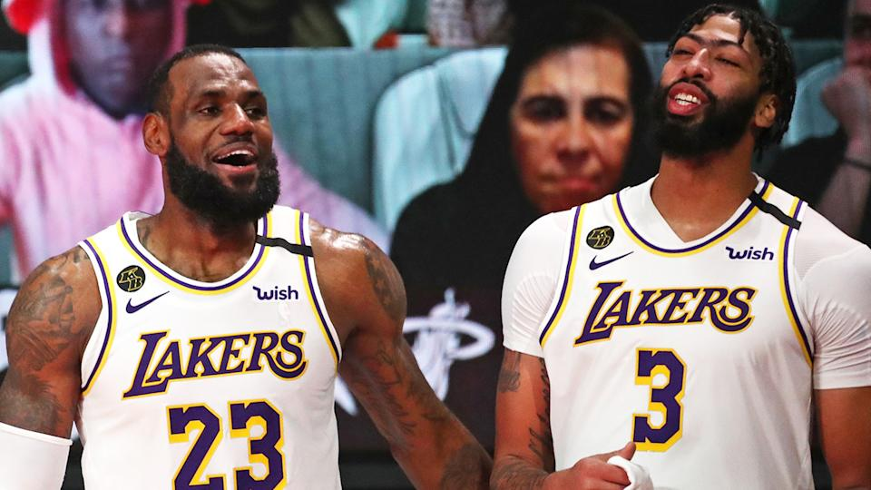 LeBron James and Anthony Davis were bounced from the 2021 NBA Playoffs sooner than pre-season predictions had tipped. (Photo by Nathaniel S. Butler/NBAE via Getty Images)
