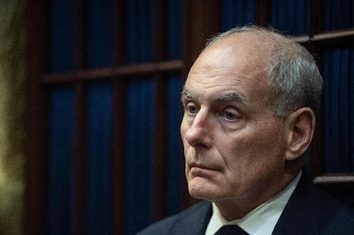 John Kelly, a retired Marine Corps general, was named by President Donald Trump to be his new chief of staff in July 2017 (AFP Photo/NICHOLAS KAMM)