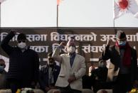 Protest against the dissolution of parliament in Kathmandu