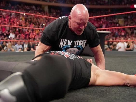 AJ Styles was left laying after a stone cold stunner (WWE)
