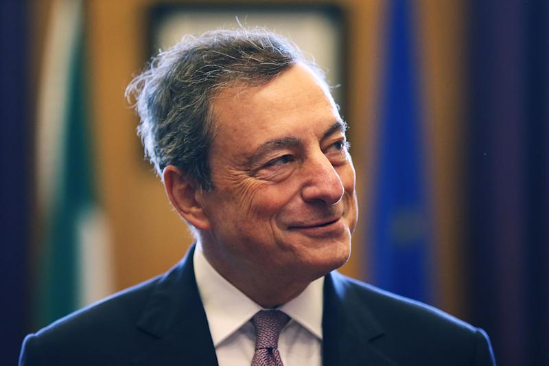 European Central Bank president Mario Draghi at Government Buildings in Dublin for a meeting with An Taoiseach Leo Varadkar.