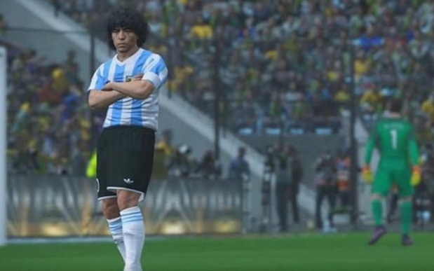 Diego Maradona features in the latest instalment of the popular franchise Credit: Pro Evolution Soccer