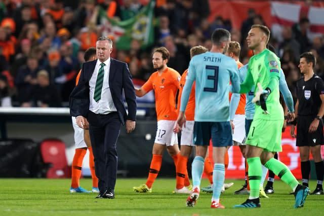 Michael O'Neill's side may have to battle through the play-offs (John Walton/PA)