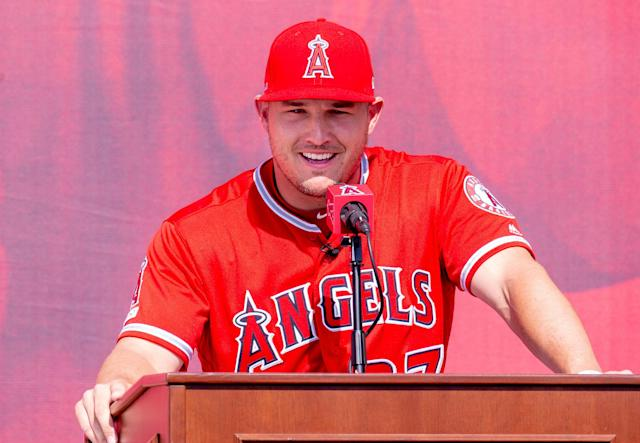 Mike Trout will likely play the rest of his career with the Los Angeles Angels. (Getty Images)