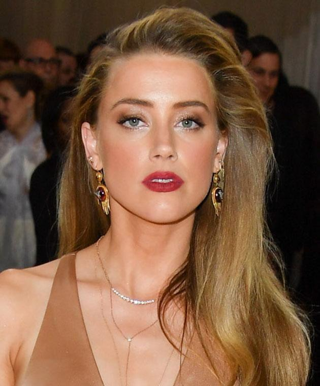 Amber Heard's face has been labelled the most beautiful in Hollywood. Photo: Getty images