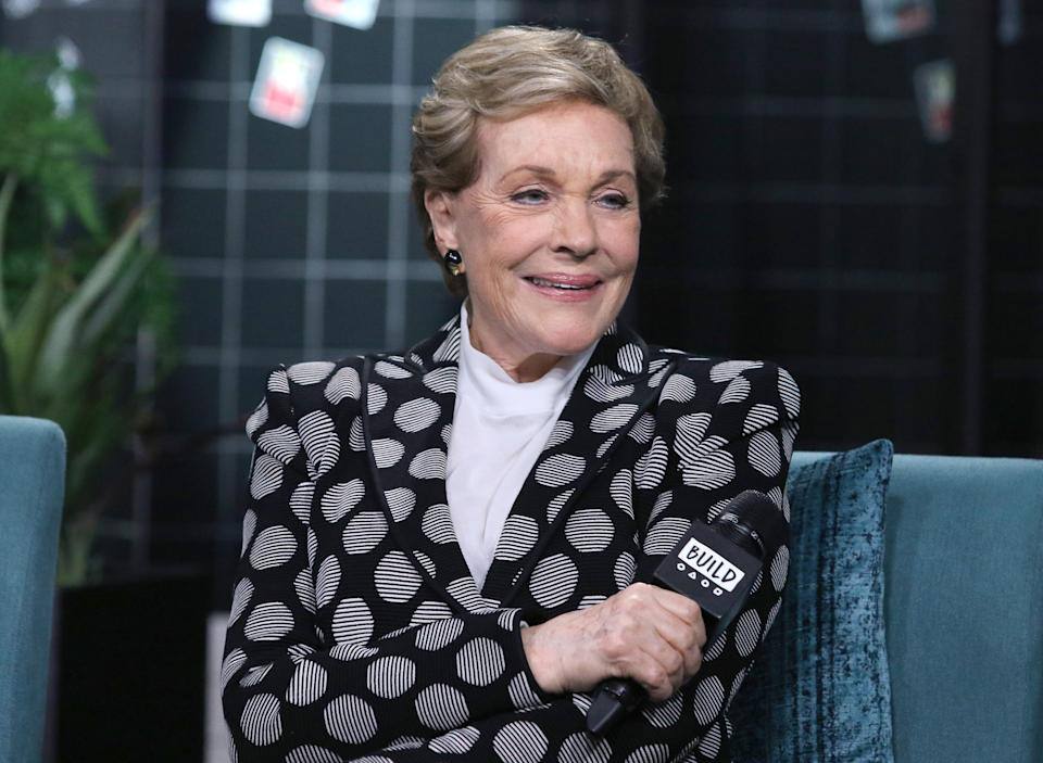 """Julie Andrews attends the Build Series to discuss """"Home Work: A Memoir of My Hollywood Years"""" on October 16, 2019. (Photo by Jim Spellman/Getty Images)"""