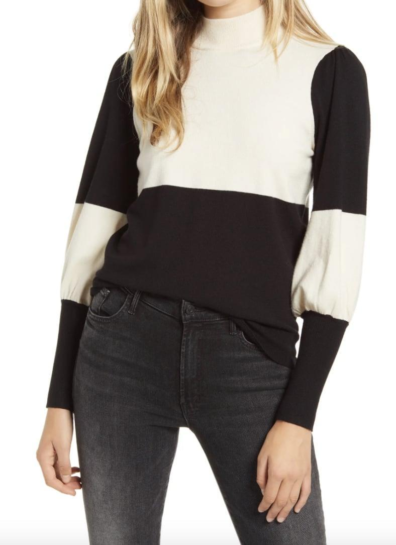 <p>We love the romantic silhouette of this <span>Vero Moda Juliet Sleeve Pullover Sweater</span> ($33, originally $55).</p>
