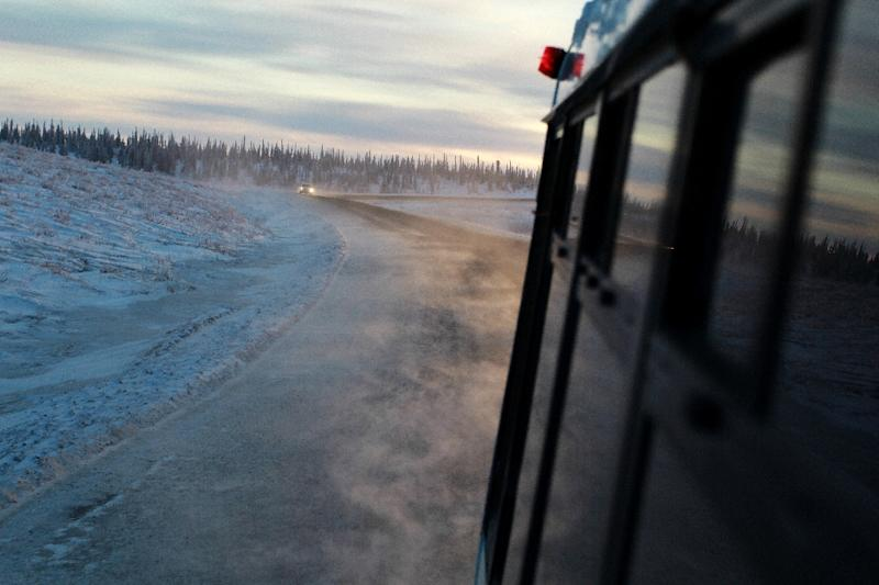 Permafrost covers a wide belt between the Arctic Circle and boreal forests, spanning Alaska, Canada, northern Europe and Russia (AFP Photo/Melinda TROCHU)