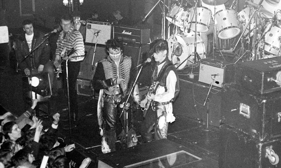 Adam & the Ants playing in Glasgow, 1980.