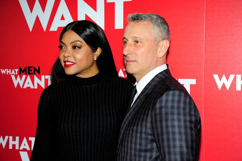 "Taraji P. Henson and Adam Shankman at the New York premiere of ""What Men Want.""  (Photo: Paul Bruinooge via Getty Images)"
