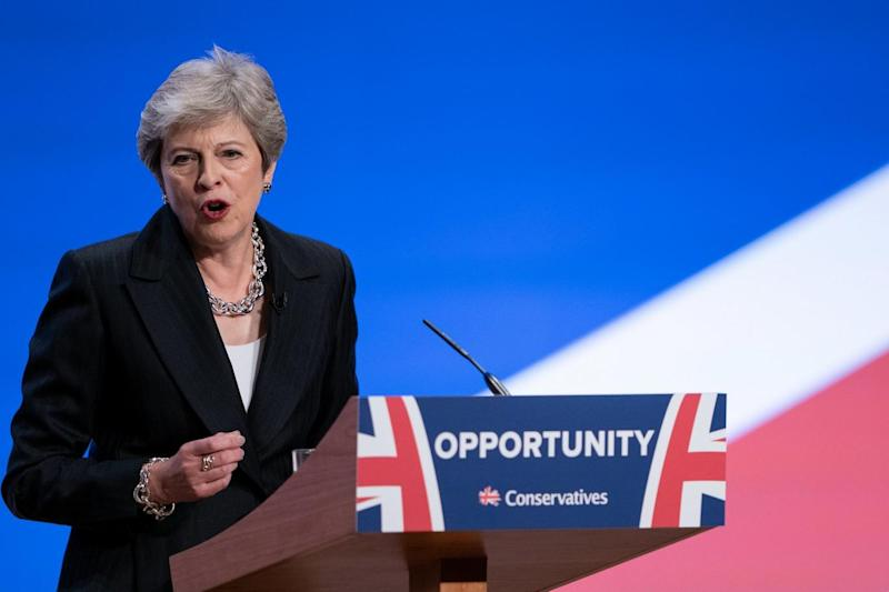 Theresa May declared 'austerity is over' during her conference speech - but this has been challenged (Christopher Furlong/Getty Images)