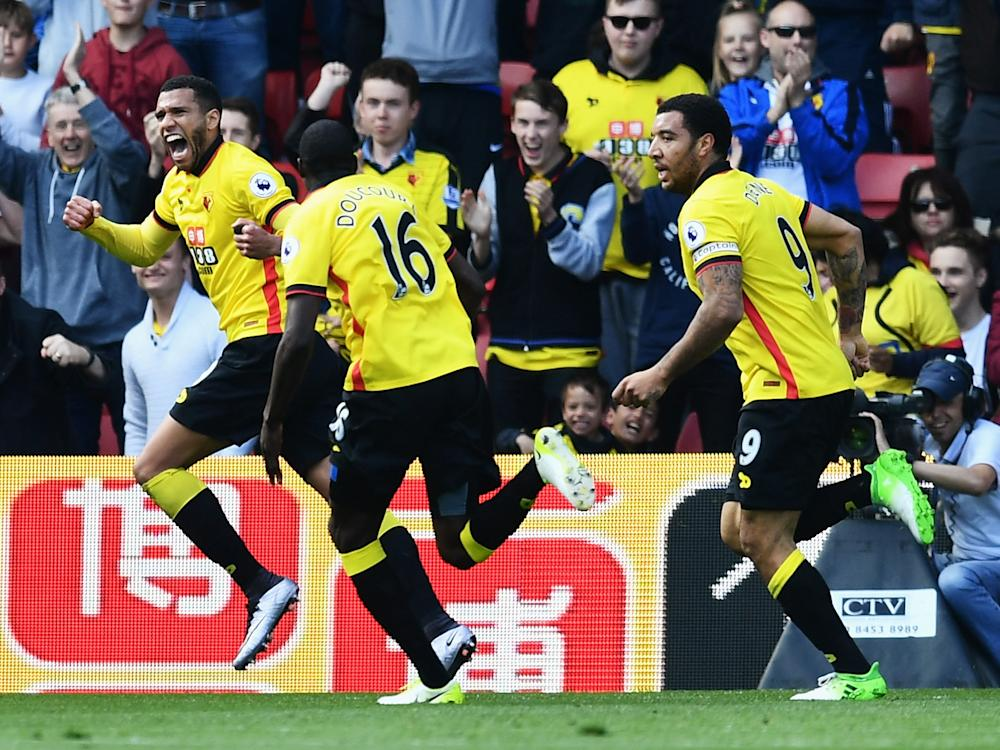 Capoue took two attempts to get the ball in the net: Getty