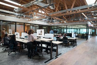 CommonGrounds Burbank Workplace second-floor desks, private offices, and team rooms