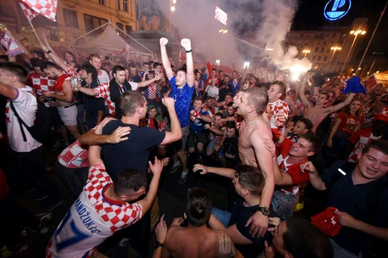 Zagreb main square erupts as fans celebrate win over England