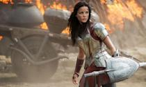 """<p>The actress, who plays Thor's warrior buddy Sif, fell down a metal staircase during shooting and could have been paralysed. <a href=""""http://www.syfy.com/syfywire/thor-2-star-details-horrible-injury-nearly-paralyzed-her"""" rel=""""nofollow noopener"""" target=""""_blank"""" data-ylk=""""slk:She told MTV"""" class=""""link rapid-noclick-resp"""">She told MTV</a>, """"I herniated a disc in my thoracic spine, dislocated my left shoulder, tore my right rhomboid and chipped eleven vertebra."""" Thankfully, she made a full recovery, spending a week in hospital and doing a month of rehab. </p>"""