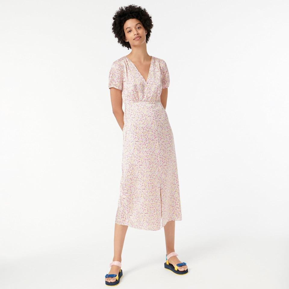 <p>We need all eyes on this dainty and feminine <span>V-neck Midi Dress</span> ($74, originally $158 (plus extra 60% off with code SALETIME) please. The flowy silhouette and eye-catching print make it stand out.</p>