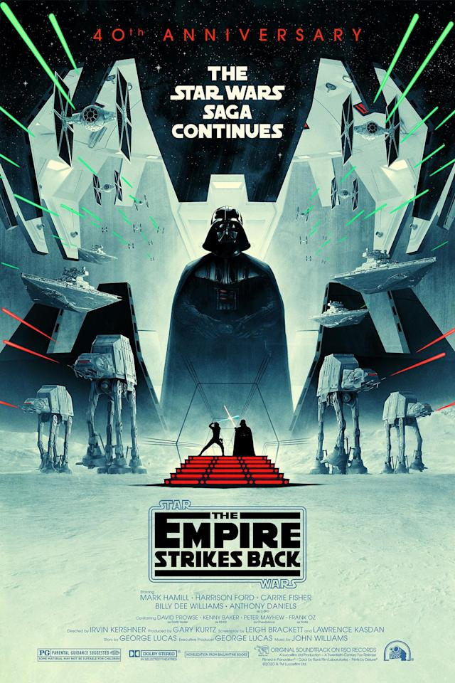 Star Wars: Episode V - The Empire Strikes Back - 40th anniversary poster. (Lucasfilm)