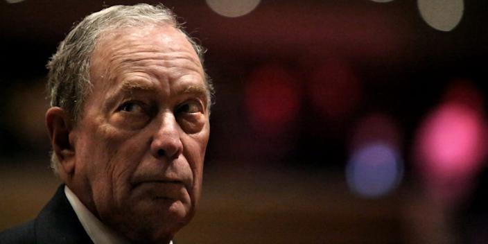 Michael Bloomberg prepares to speak at the Christian Cultural Center on November 17, 2019 in the Brooklyn borough of New York City.