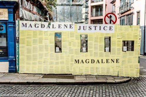 """<span class=""""caption"""">In the 20th century Magdalene laundries were punitive institutions where young """"fallen"""" women – pregnant and unmarried – endured a daily regime of silence, prayer and hard labour. The last Magdalene laundry closed in 1996.</span> <span class=""""attribution""""><a class=""""link rapid-noclick-resp"""" href=""""https://www.flickr.com/photos/infomatique/8010431147"""" rel=""""nofollow noopener"""" target=""""_blank"""" data-ylk=""""slk:William Murphy/lFlickr"""">William Murphy/lFlickr</a>, <a class=""""link rapid-noclick-resp"""" href=""""http://creativecommons.org/licenses/by-sa/4.0/"""" rel=""""nofollow noopener"""" target=""""_blank"""" data-ylk=""""slk:CC BY-SA"""">CC BY-SA</a></span>"""