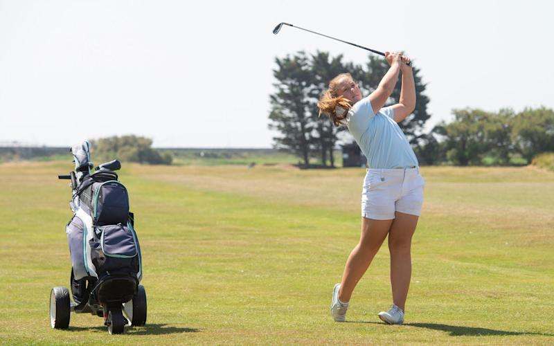 Golfer Chelsey Duffy, who has benefitted from the Golf Foundation's attempts to introduce golf to youngsters - JULIAN SIMMONDS