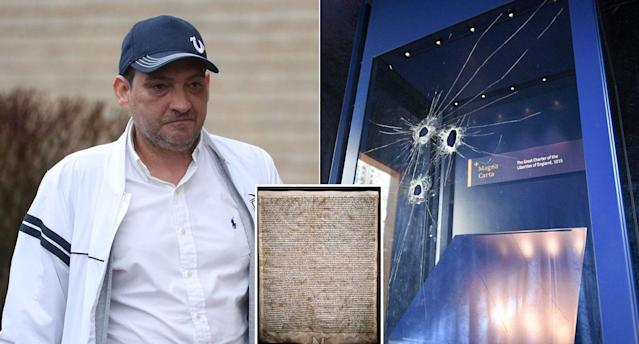 Mark Royden tried to steal the Magna Carta (PA)