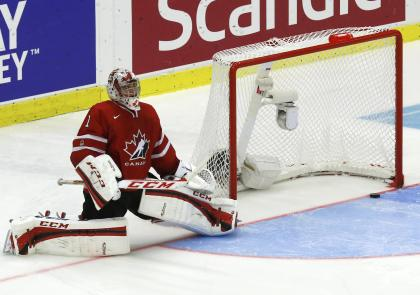 Two-time World Junior Championship goalie Jake Paterson has had to be patient as he waits for NHL chance. (Reuters)