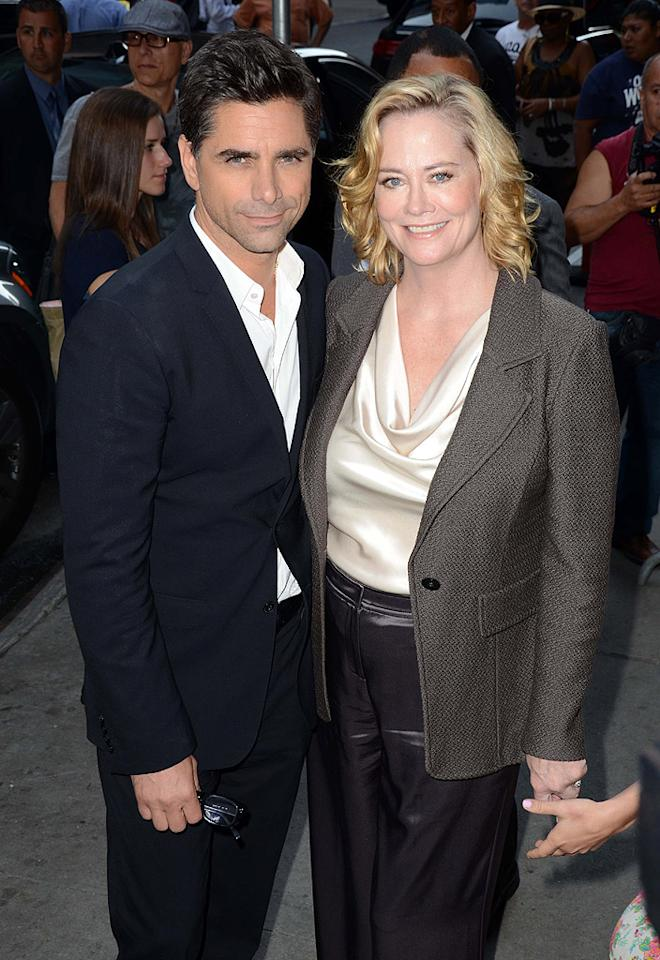 "<p class=""MsoNormal"">ABC '80s stars, unite! Cybill Shepherd (who spent five seasons playing a model-turned-detective opposite Bruce Willis on the dramedy ""Moonlighting"") and John Stamos (who starred as Uncle Jesse on the successful sitcom ""Full House"") met up on their way into the ""GMA"" studios. John and Cybill are both co-starring along with Kristin Davis on Broadway. </p>"