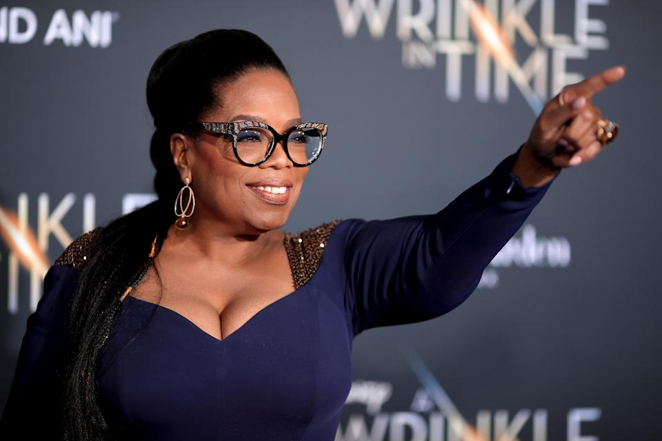 Donald Trump has been busted for telling a repeated lie that he appeared on one of Oprah Winfrey's final ever talk shows. (Photo by Christopher Polk/Getty Images)