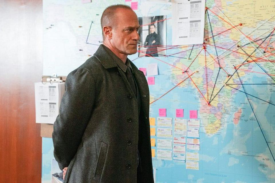 """A decade after leaving """"Law & Order: SVU,"""" Elliott Stabler (Christopher Meloni) is back on the beat in NBC spinoff """"Law & Order: Organized Crime."""""""