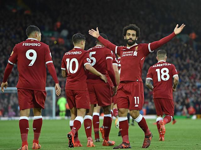 Mohamed Salah was the star of the show at Anfield: Liverpool FC