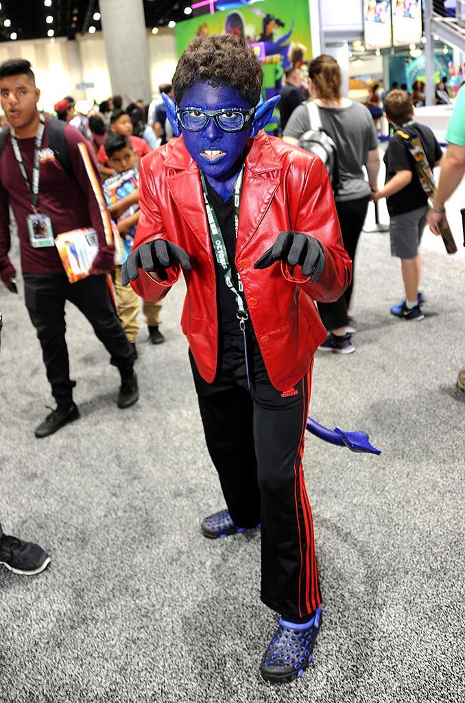 <p>A cosplayer dressed as Nightcrawler at Comic-Con International on July 18, 2018, in San Diego. (Photo: Albert L. Ortega/Getty Images) </p>