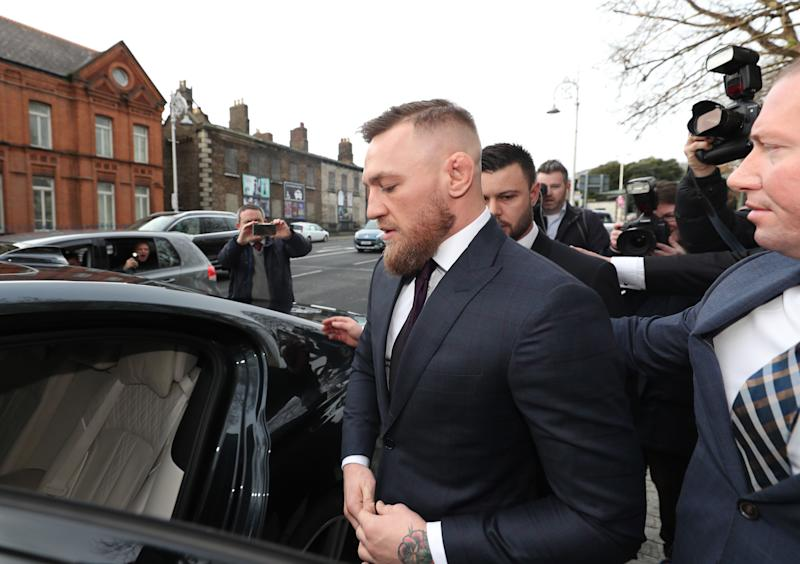 Conor McGregor charges dropped after settlement, victim of phone smashing recants
