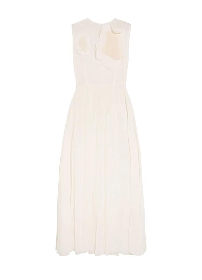 "A.W.A.K.E. Floral-Appliquéd Cotton-Organdy Maxi Dress $499, The Outnet. <a rel=""nofollow"" href=""https://www.theoutnet.com/en-us/shop/product/maxi-dress_cod1874378722735221.html#dept=AM_Bridal_DRESSES_CLOTHING"">Get it now!</a>"