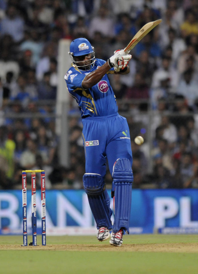 Kieron Pollard of Mumbai Indians bats  during match 10 of the Pepsi Indian Premier League ( IPL) 2013  between The Mumbai Indians and the Delhi Daredevils held at the Wankhede Stadium in Mumbai on 9th April 2013 ..Photo by Pal Pillai-IPL-SPORTZPICS ..Use of this image is subject to the terms and conditions as outlined by the BCCI. These terms can be found by following this link:..https://ec.yimg.com/ec?url=http%3a%2f%2fwww.sportzpics.co.za%2fimage%2fI0000SoRagM2cIEc&t=1506404697&sig=yzS5r9dKlgcX6obpARPsPA--~D