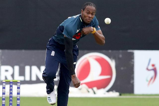 Jofra Archer bowls during his England debut against Ireland (AFP Photo/Paul Faith)