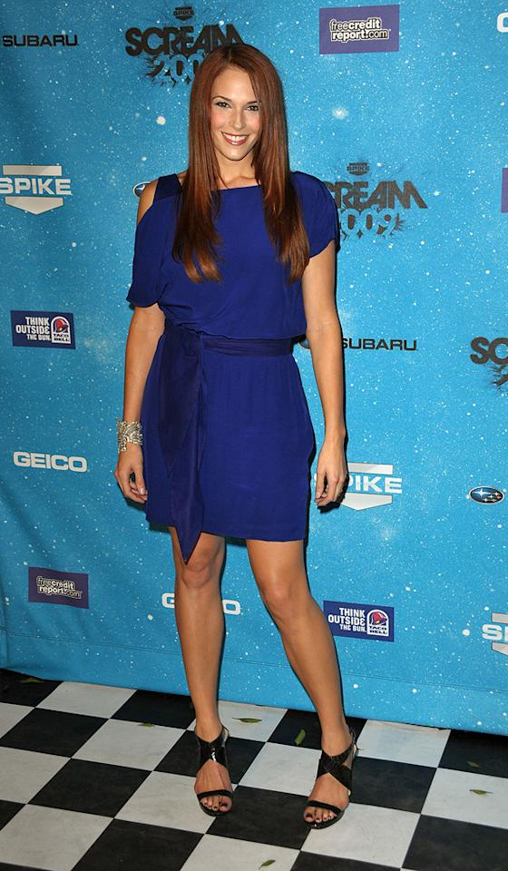 """<a href=""""http://movies.yahoo.com/movie/contributor/1809610986"""">Amanda Righetti</a> at the 2009 Spike TV Scream Awards in Los Angeles - 10/17/2009"""