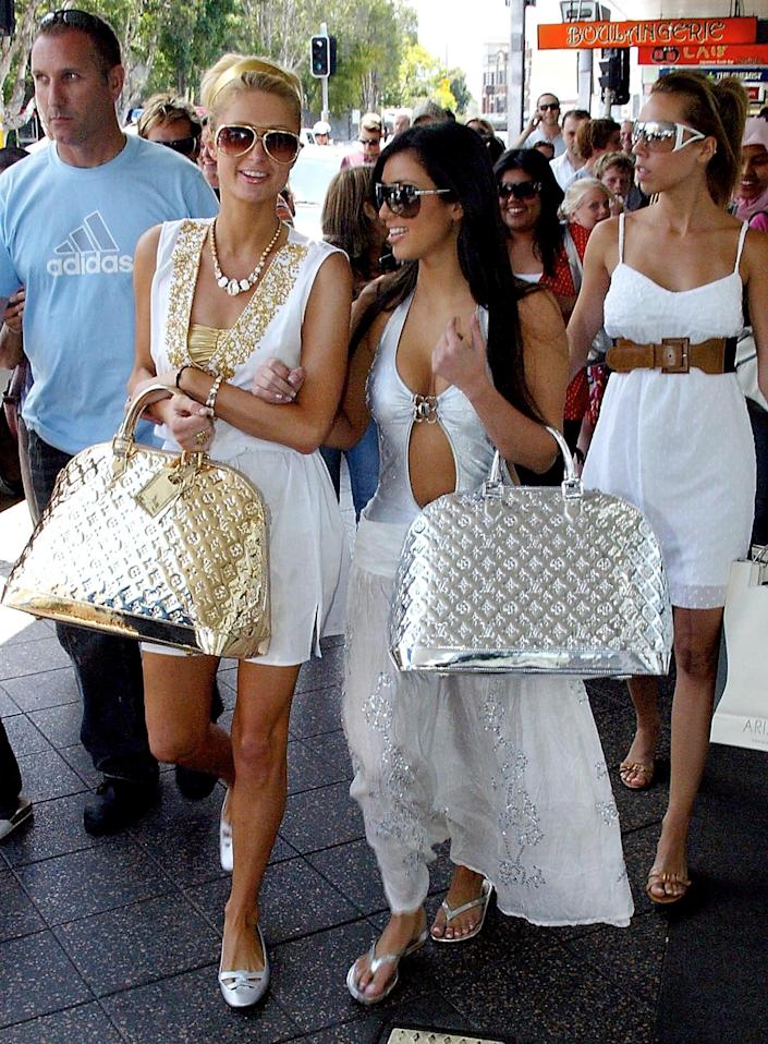 """In this 2006 photo on Getty, the KUWTK star is referred to as """"Paris Hilton's friend Kim Kardashian."""""""