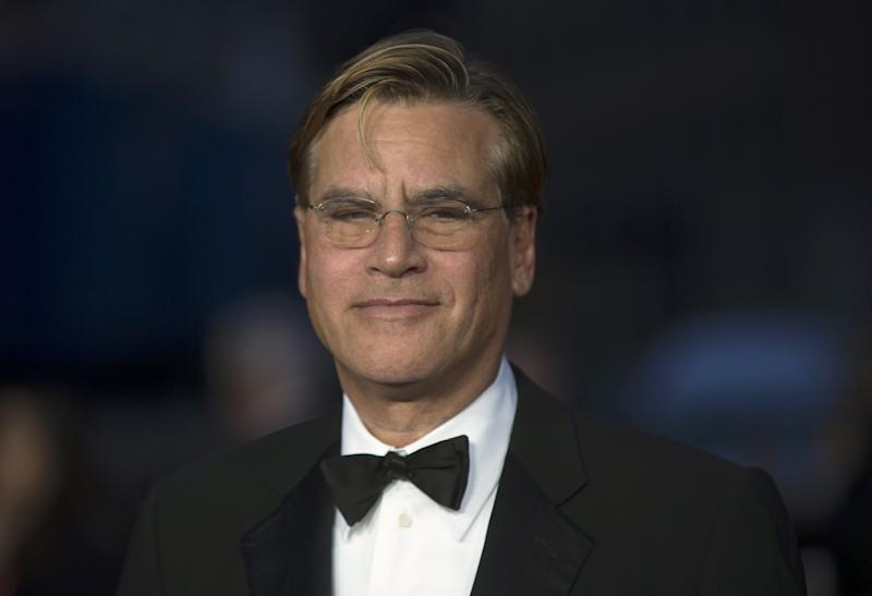 "Writer Aaron Sorkin poses for photographers at the closing night premiere of the film ""Steve Jobs"" at the BFI London Film Festival October 18, 2015. REUTERS/Neil Hall"