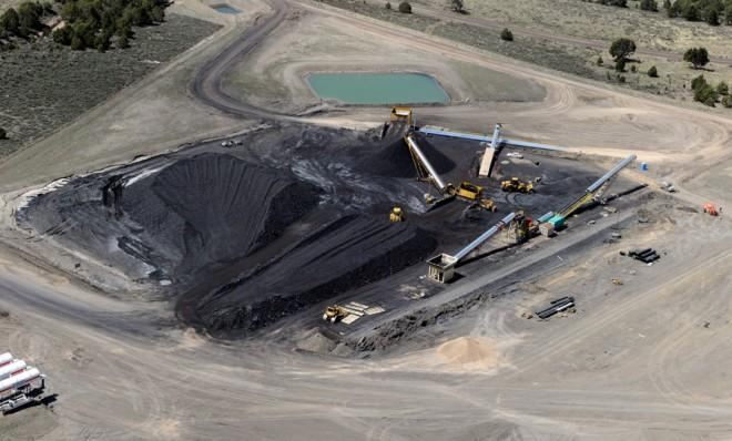 A coal strip mine in Utah: The U.S. leads the world in coal reserves, but not production.