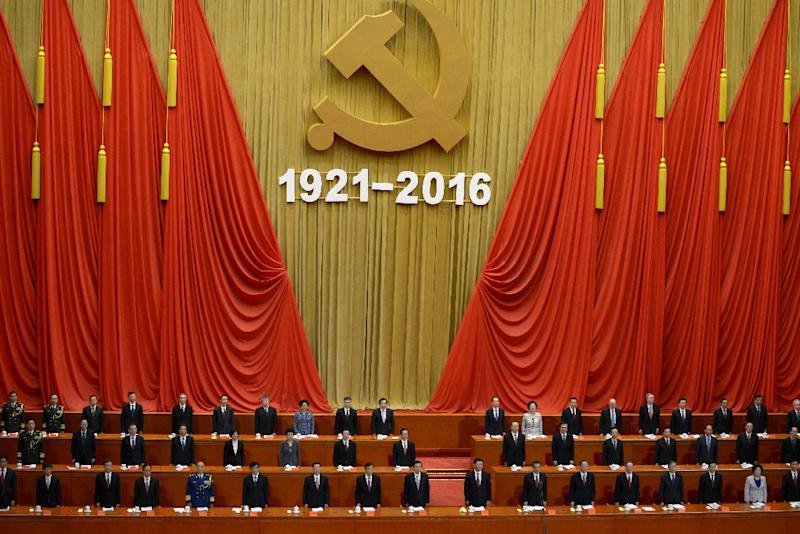 "The Communist party, which had some 88.7 million members at the end of last year, must maintain ""absolute leadership"", says President Xi Jinping (AFP Photo/Wang Zhao)"