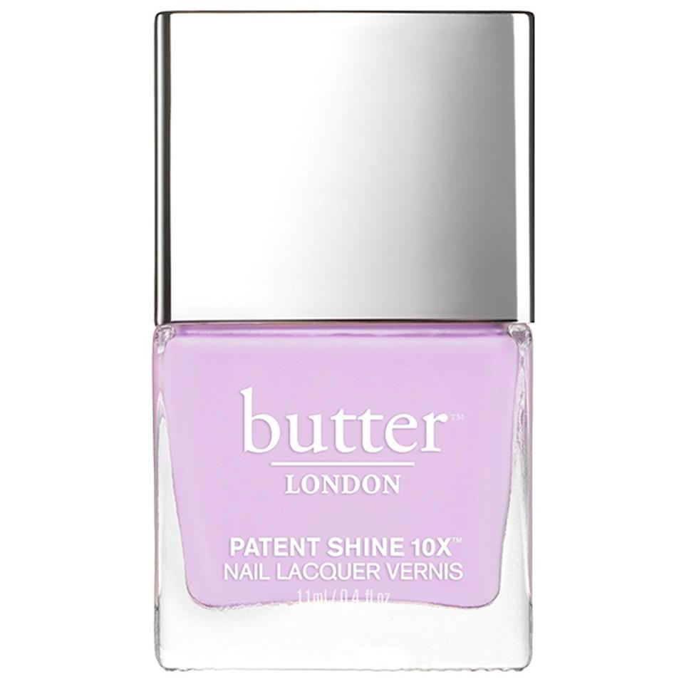 "<h3>Butter London Nail Polish in English Lavender</h3> <br>For that sweet spot between milky <a href=""https://www.refinery29.com/en-us/best-nude-nail-polish"" rel=""nofollow noopener"" target=""_blank"" data-ylk=""slk:nude"" class=""link rapid-noclick-resp"">nude</a> and springy <a href=""https://www.refinery29.com/en-us/pastel-nail-polish-colors"" rel=""nofollow noopener"" target=""_blank"" data-ylk=""slk:pastels"" class=""link rapid-noclick-resp"">pastels</a>, try a sheer, cool-toned lavender.<br><br><strong>Butter London</strong> English Lavender Patent Shine 10X Nail Lacquer, $, available at <a href=""https://go.skimresources.com/?id=30283X879131&url=https%3A%2F%2Fwww.butterlondon.com%2Fenglish-lavender-patent-shine-10x-nail-lacquer"" rel=""nofollow noopener"" target=""_blank"" data-ylk=""slk:Butter London"" class=""link rapid-noclick-resp"">Butter London</a><br>"