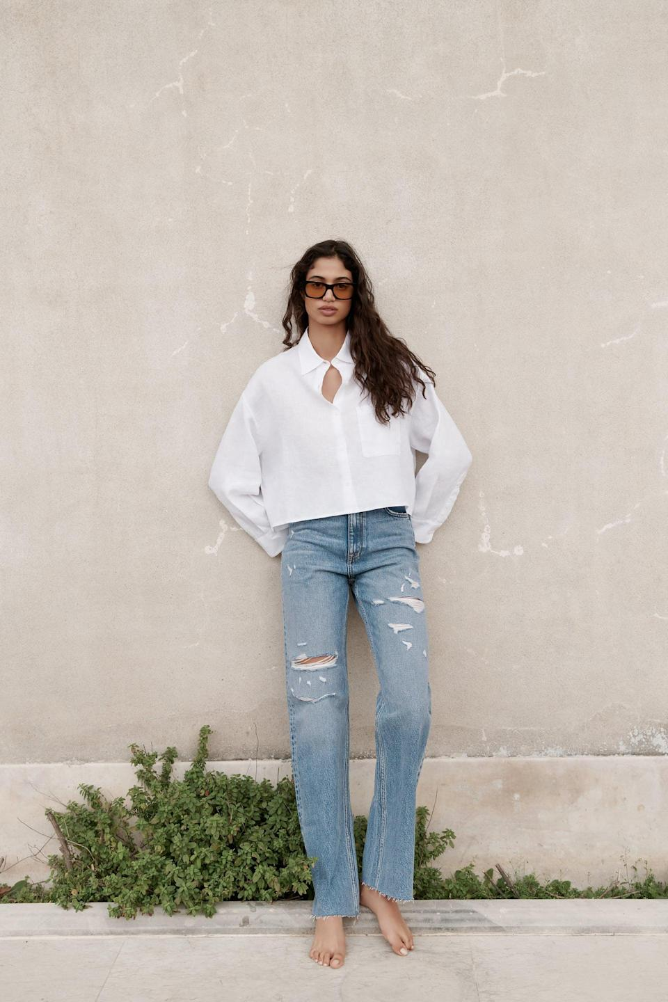 <p>Pair this <span>Zara Linen Shirt With Pockets</span> ($40) with all your favorite straight leg jeans.</p>