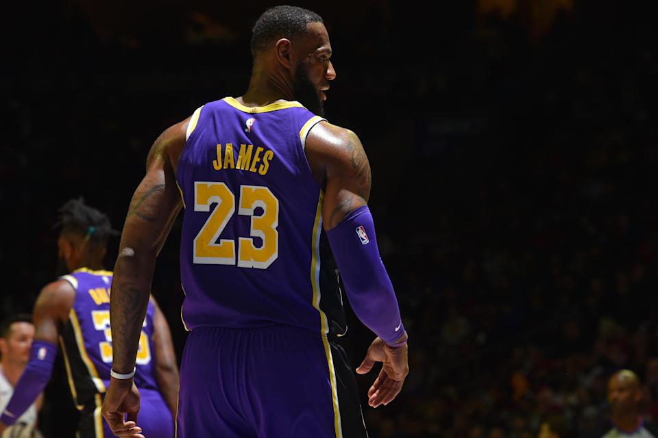 """Kareem Abdul-Jabbar wants the """"GOAT"""" debate to stop. Instead, he argued, we need to simply appreciate the hero that LeBron James truly is to this generation. (Jesse D. Garrabrant/Getty Images)"""