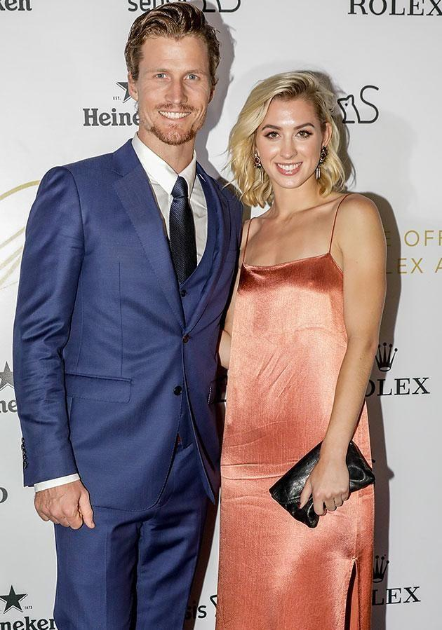 Alex with her Bachelor ex Richie Strahan. Source: Getty