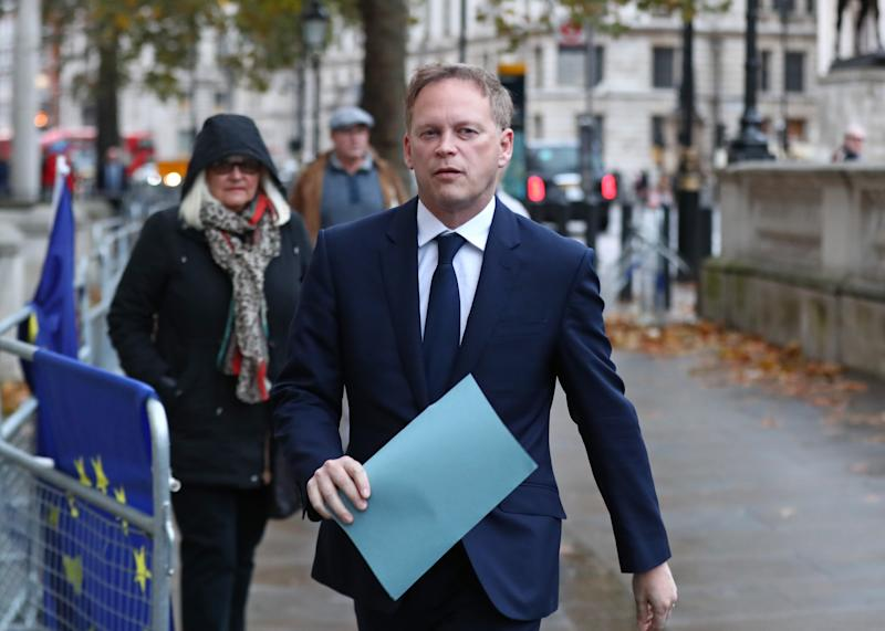 Transport Secretary Grant Shapps arriving at the Cabinet Office in London, ahead of a meeting of the Government's emergency committee Cobra, chaired by Prime Minister Boris Johnson in Downing Street, to discuss the response to recent flooding in the North of England.
