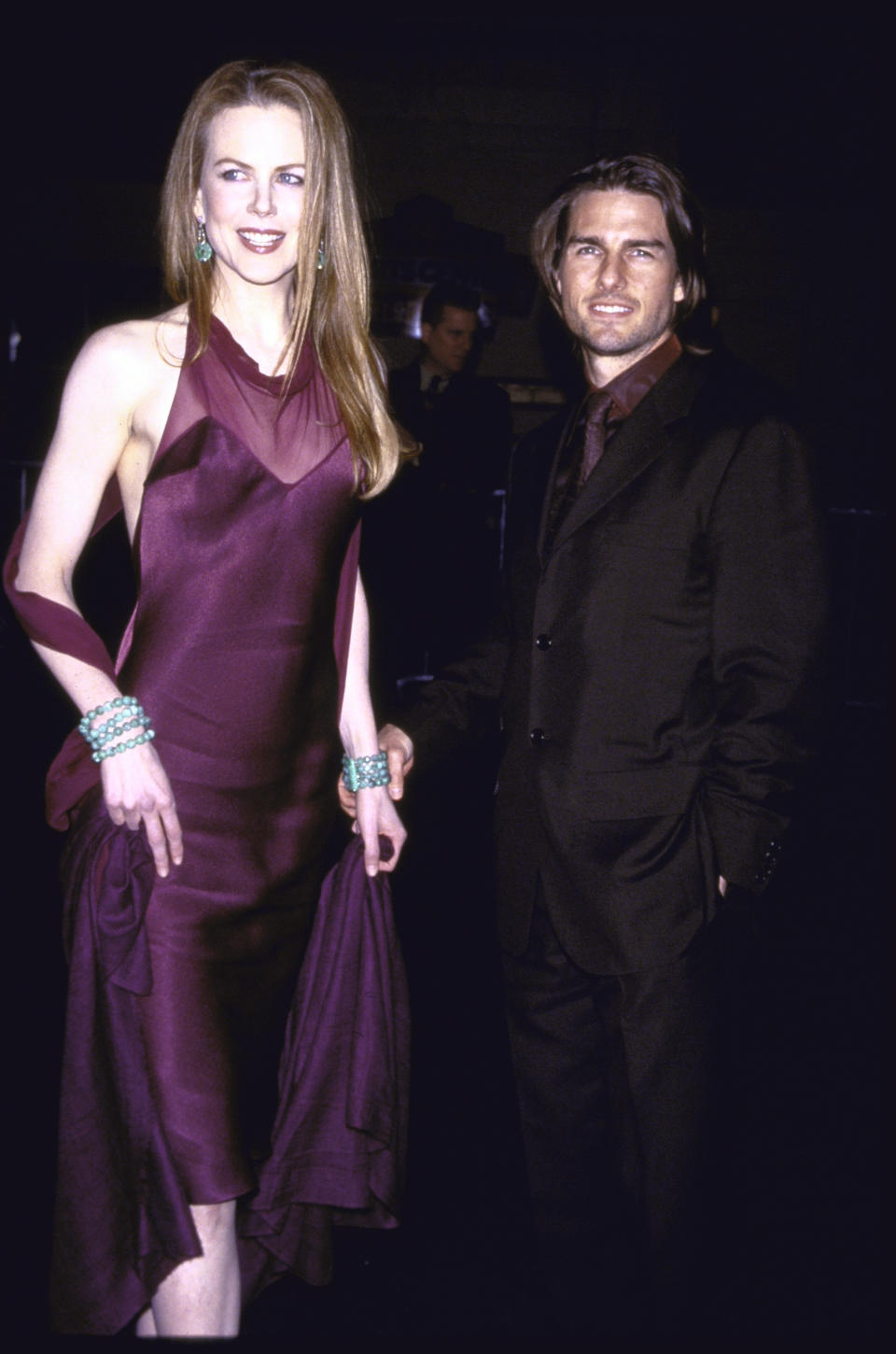 """<p>Cruise and Kidman reigned supreme over Hollywood for most of the '90s. With movie star good looks and blockbuster hits the pair ruled the red carpet and starred in multiple films together, including """"Days of Thunder"""" and """"Eyes Wide Shut."""" Cruise filed for divorce in 2001 after 11 years of marriage. <em>(Image via Getty Images)</em></p>"""